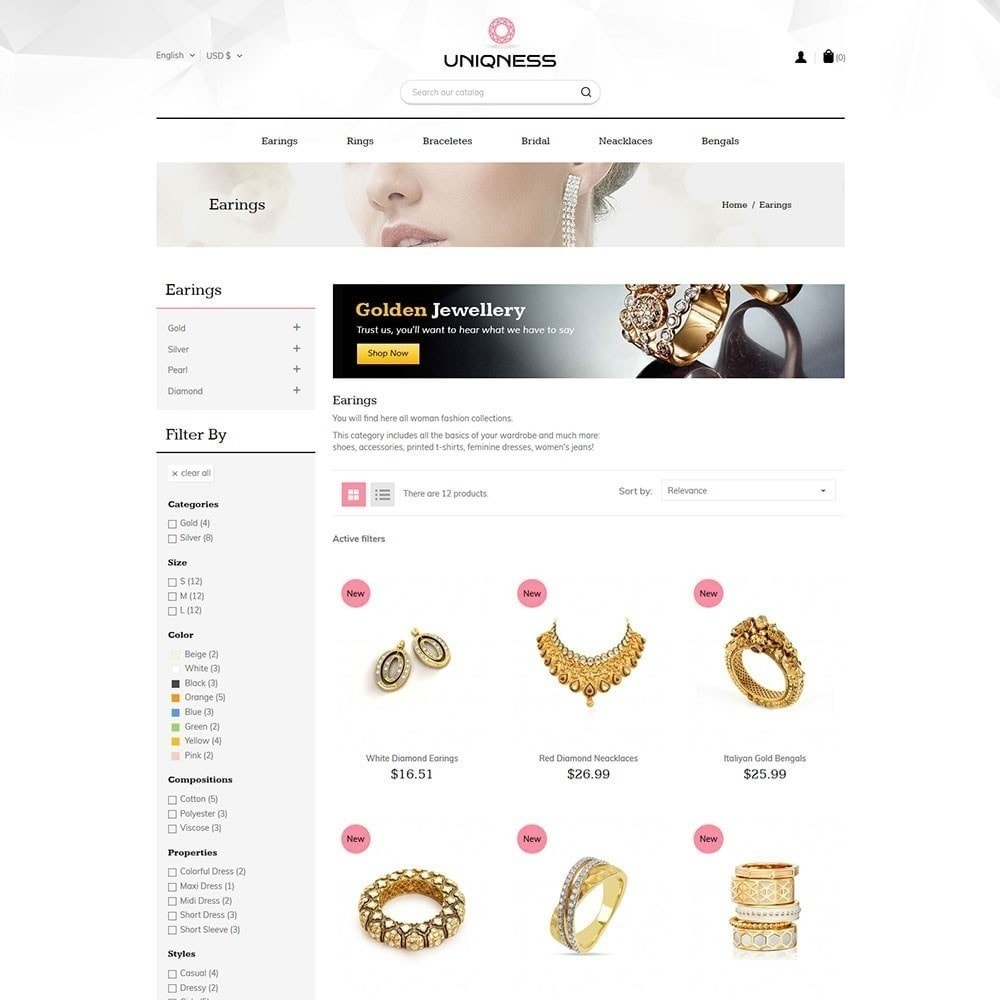 theme - Jewelry & Accessories - Uniqness Jewellery Store - 4