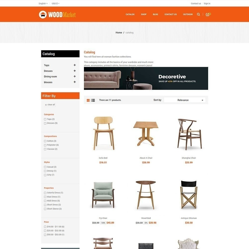theme - Home & Garden - Wood Furniture Store - 3