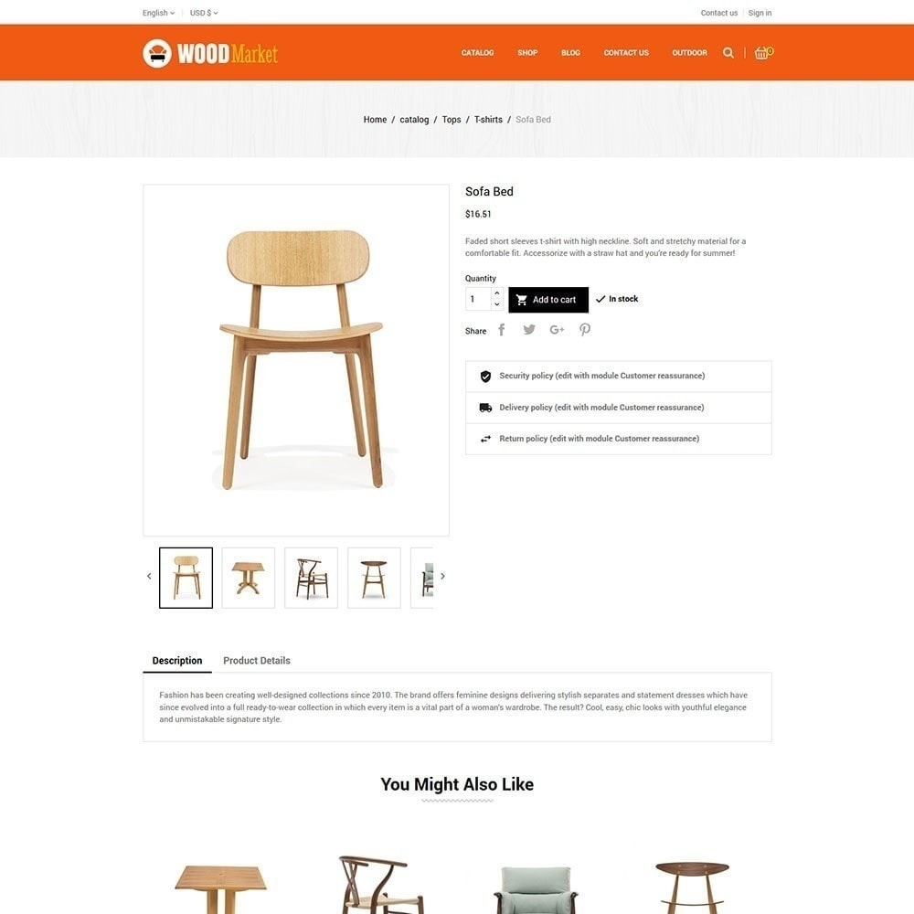 theme - Home & Garden - Wood Furniture Store - 5