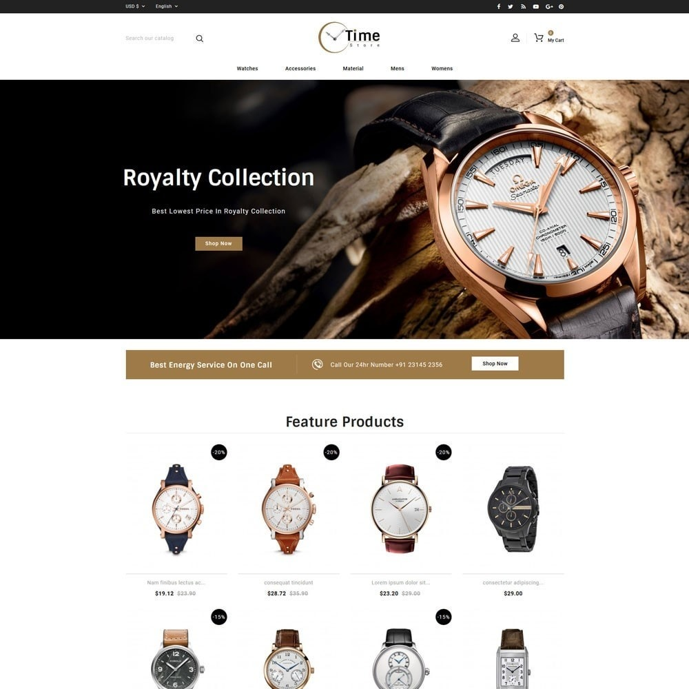 theme - Jewelry & Accessories - Time Store -Watch - 2