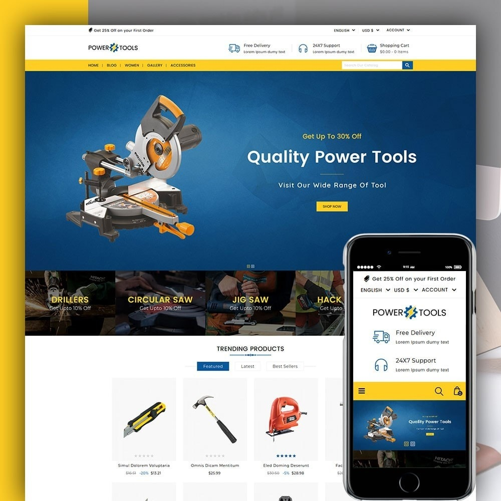 theme - Auto's & Motoren - Power Tools - 1