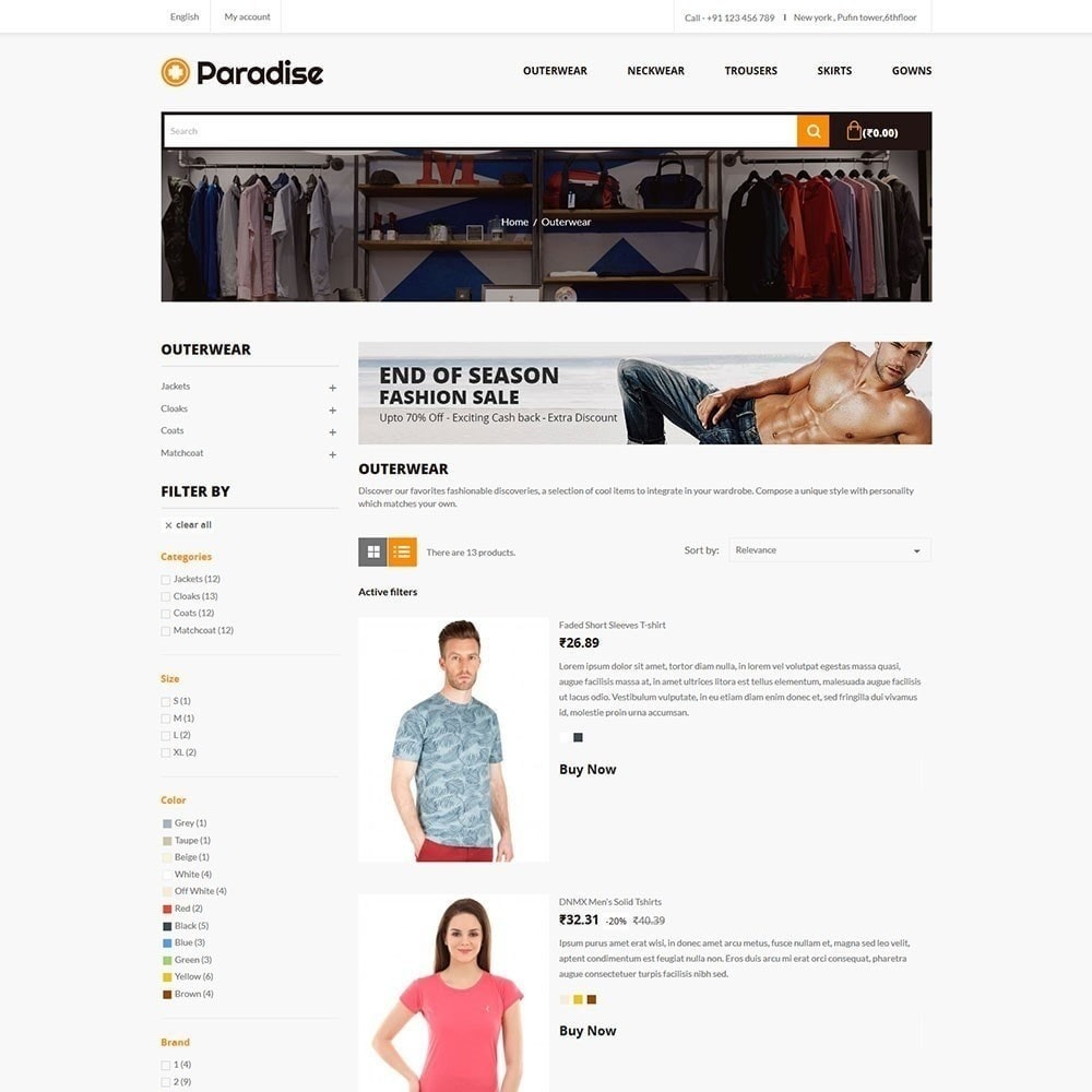 theme - Mode & Chaussures - Paradise - Magasin de mode - 4