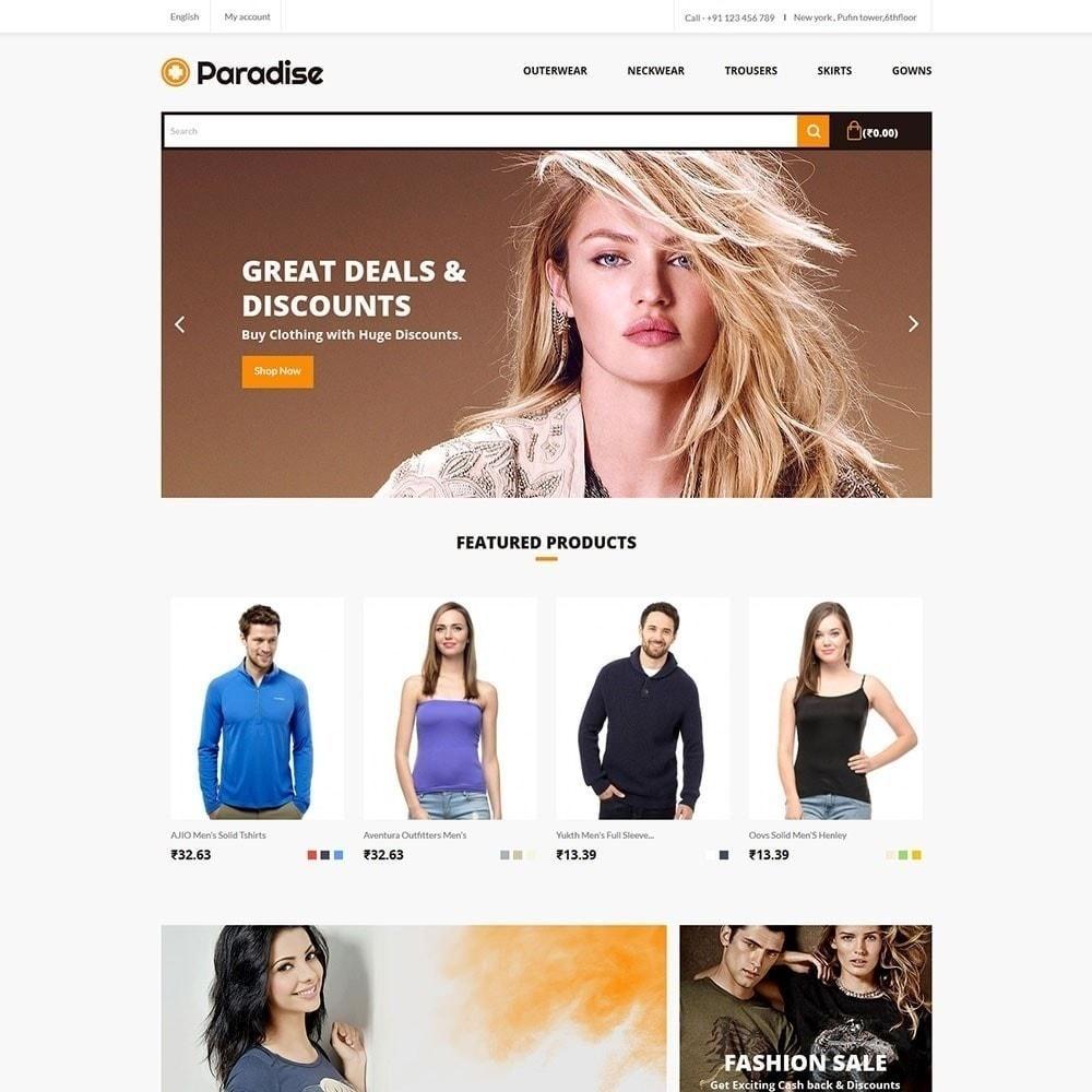theme - Fashion & Shoes - Paradise - Fashion Store - 2