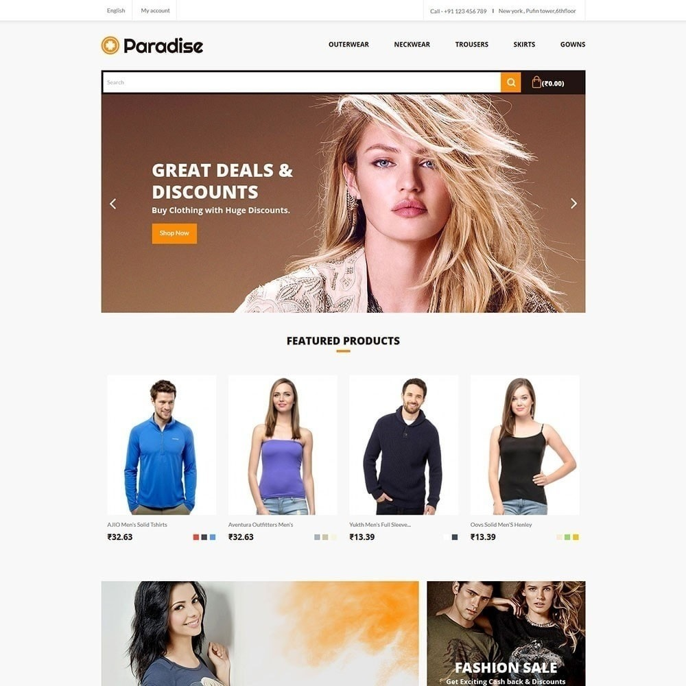 theme - Moda y Calzado - Paradise - Fashion Store - 2