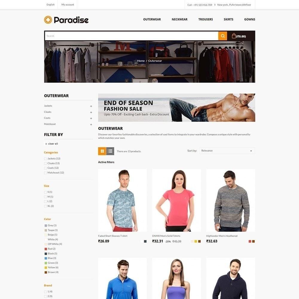 theme - Moda & Calçados - Paradise - Loja de moda - 3