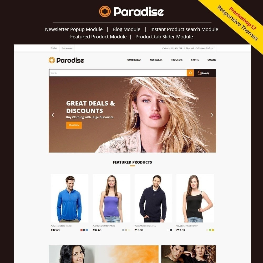 theme - Мода и обувь - Рай - Модный магазин - 1