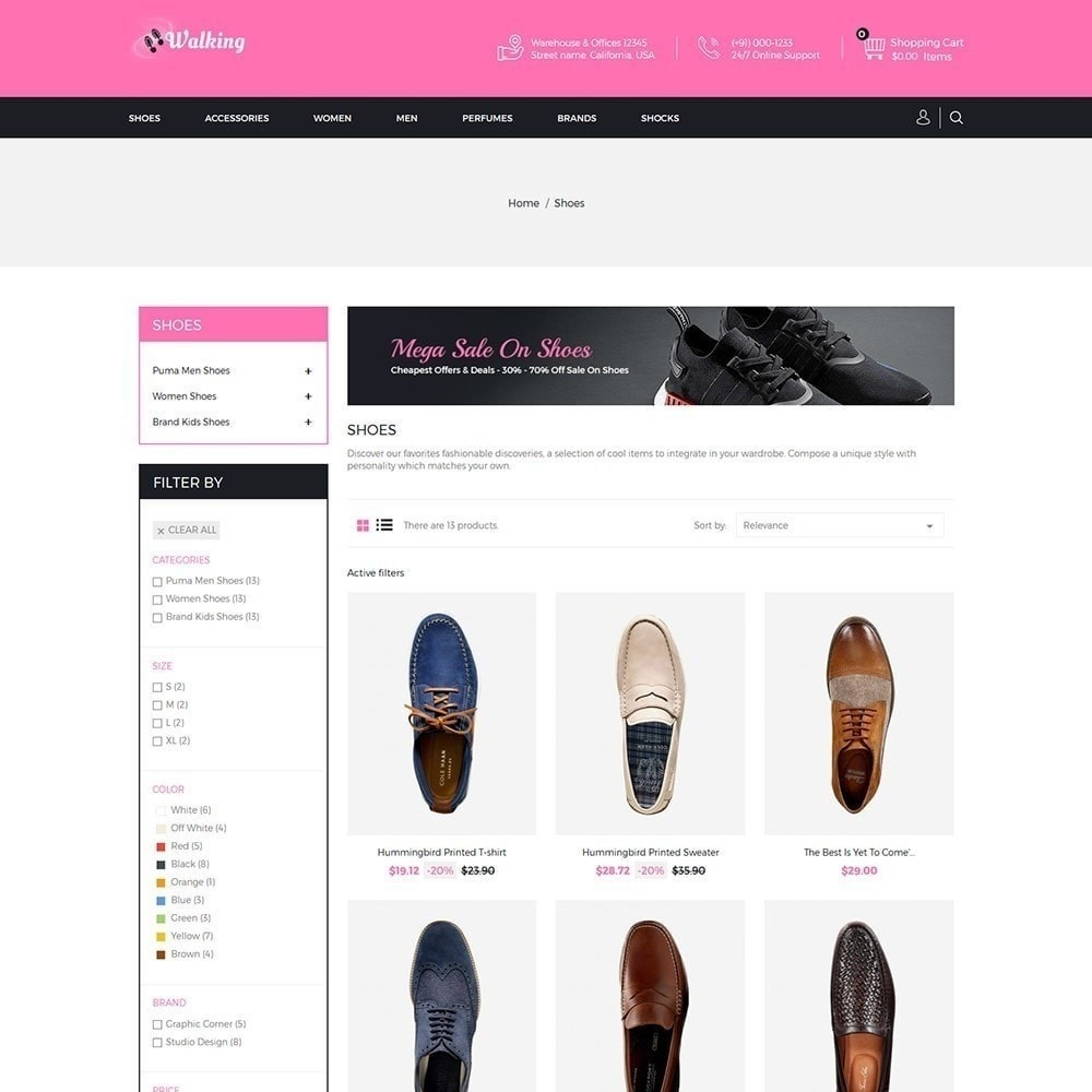 theme - Fashion & Shoes - Walking - Shoes Store - 3