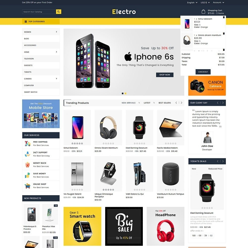 theme - Elettronica & High Tech - Electro Electronics Store - 2