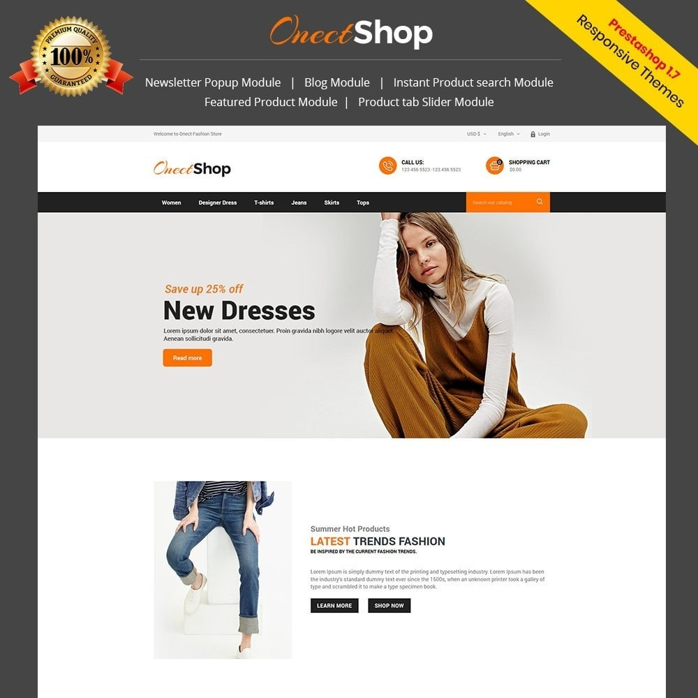 theme - Fashion & Shoes - Onect Style - Fashion Store - 1
