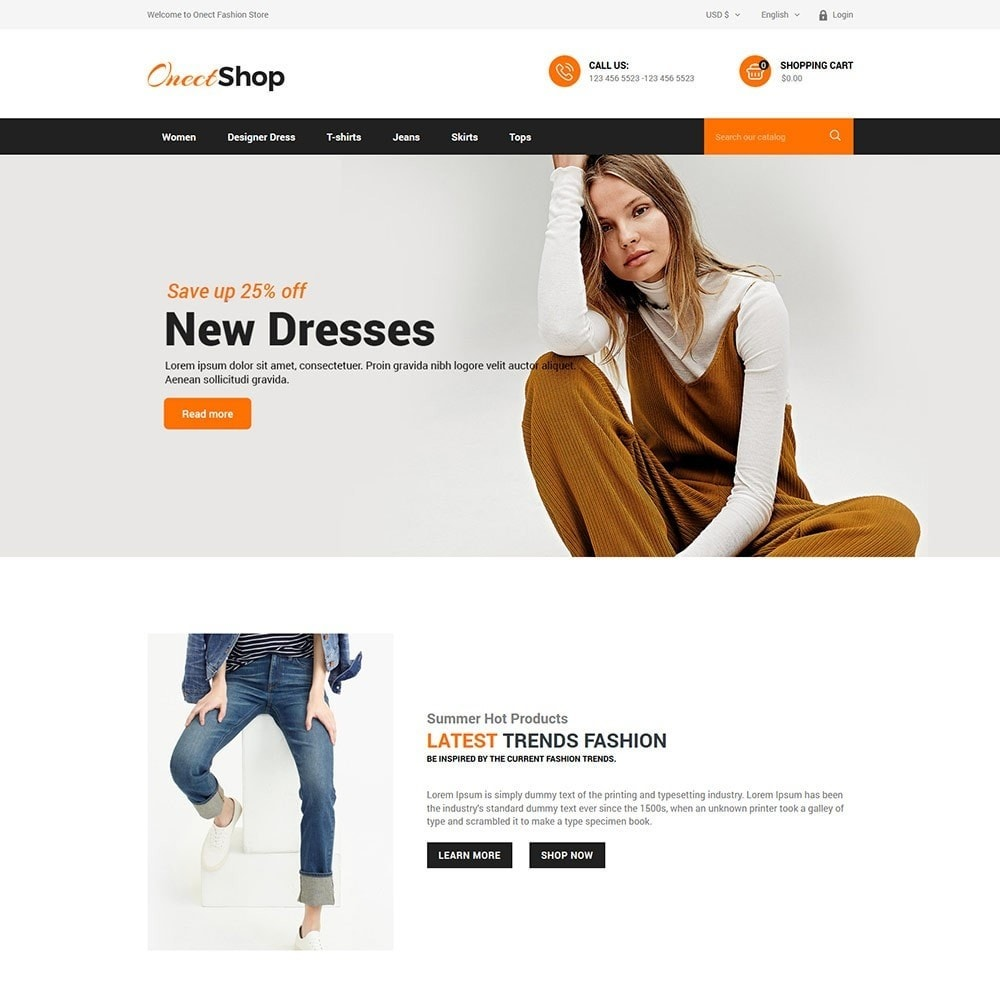 theme - Fashion & Shoes - Onect Style - Fashion Store - 2