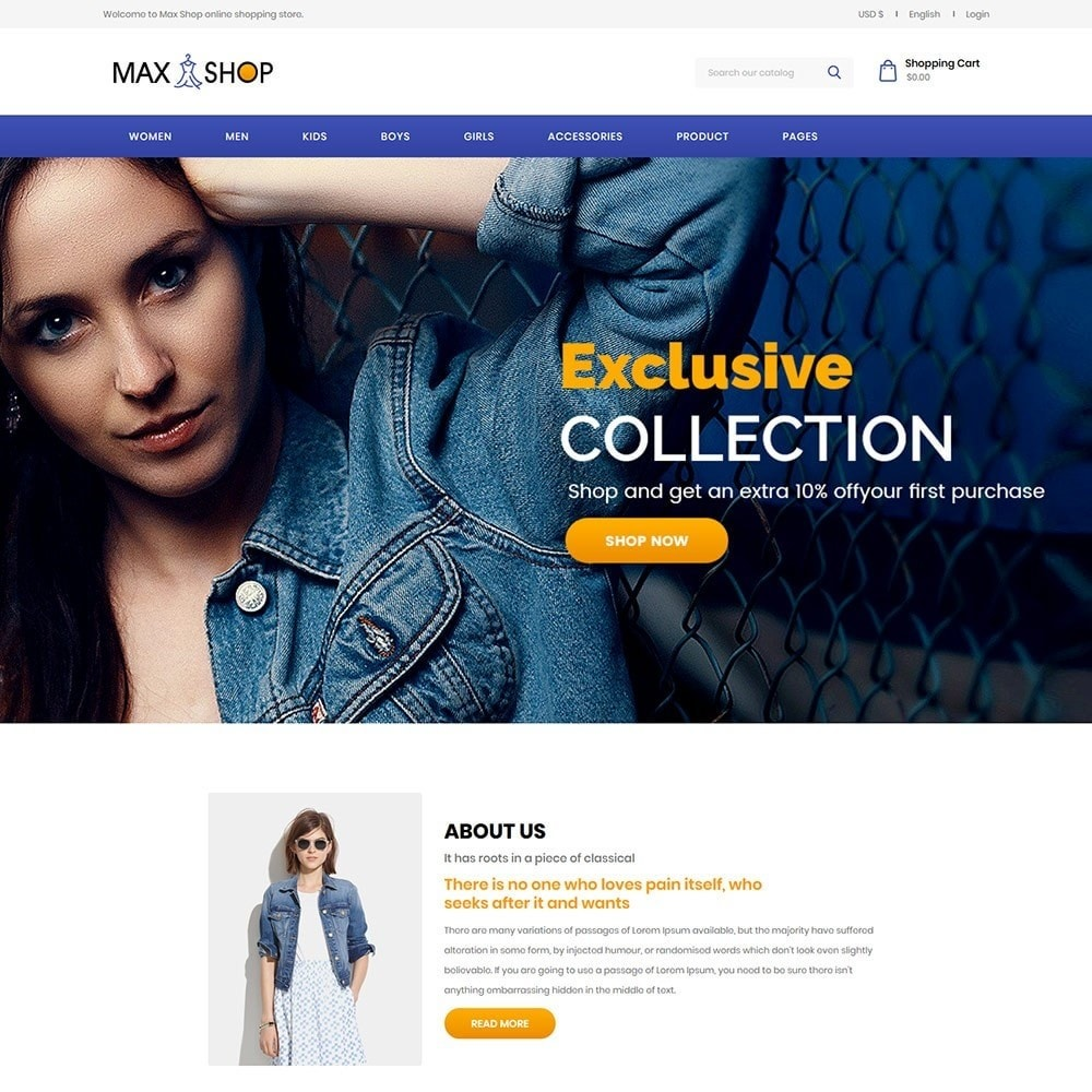 theme - Fashion & Shoes - Maxshop Designer  - Fashion Store - 2