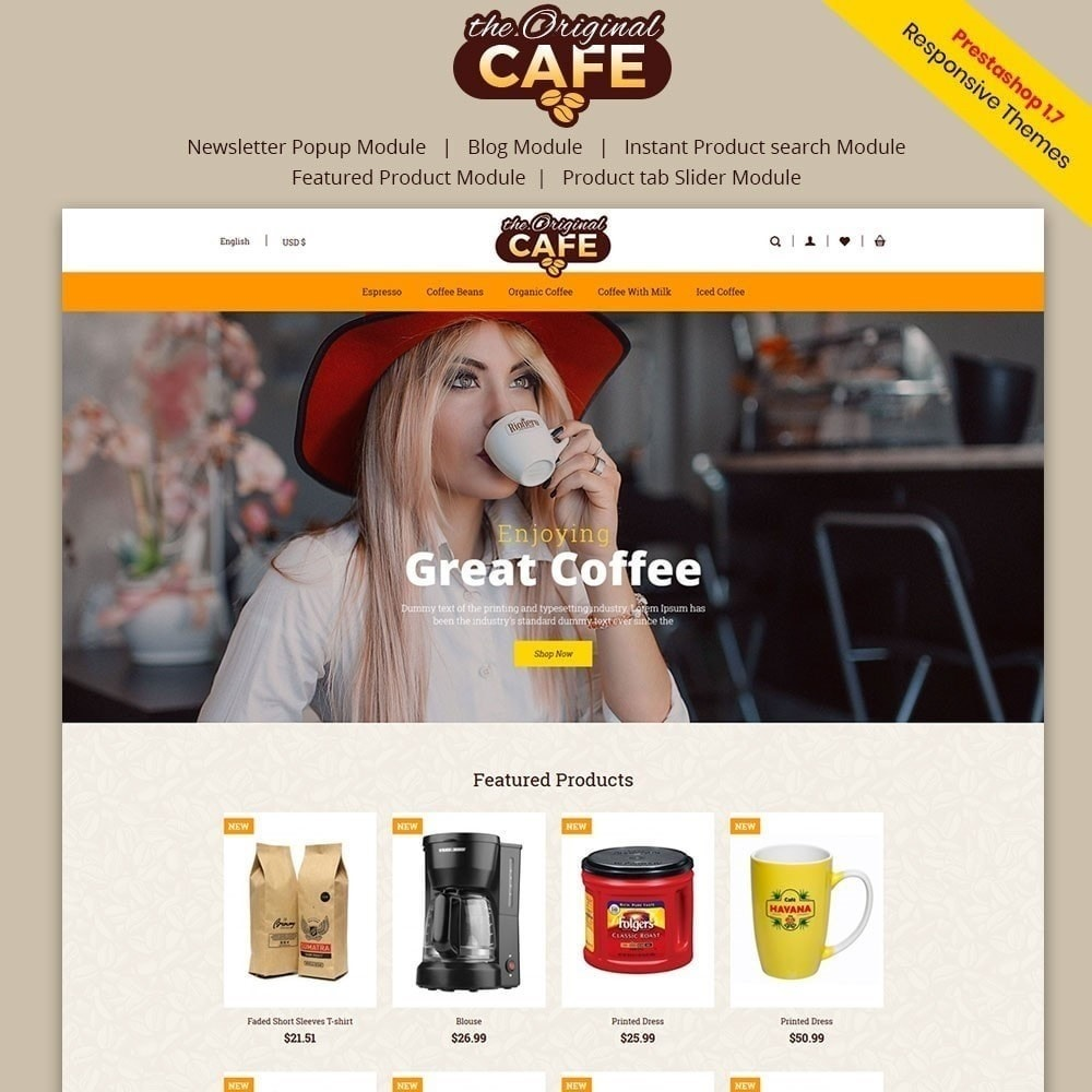 theme - Food & Restaurant - Food and Restaurant Cafe Store - 1