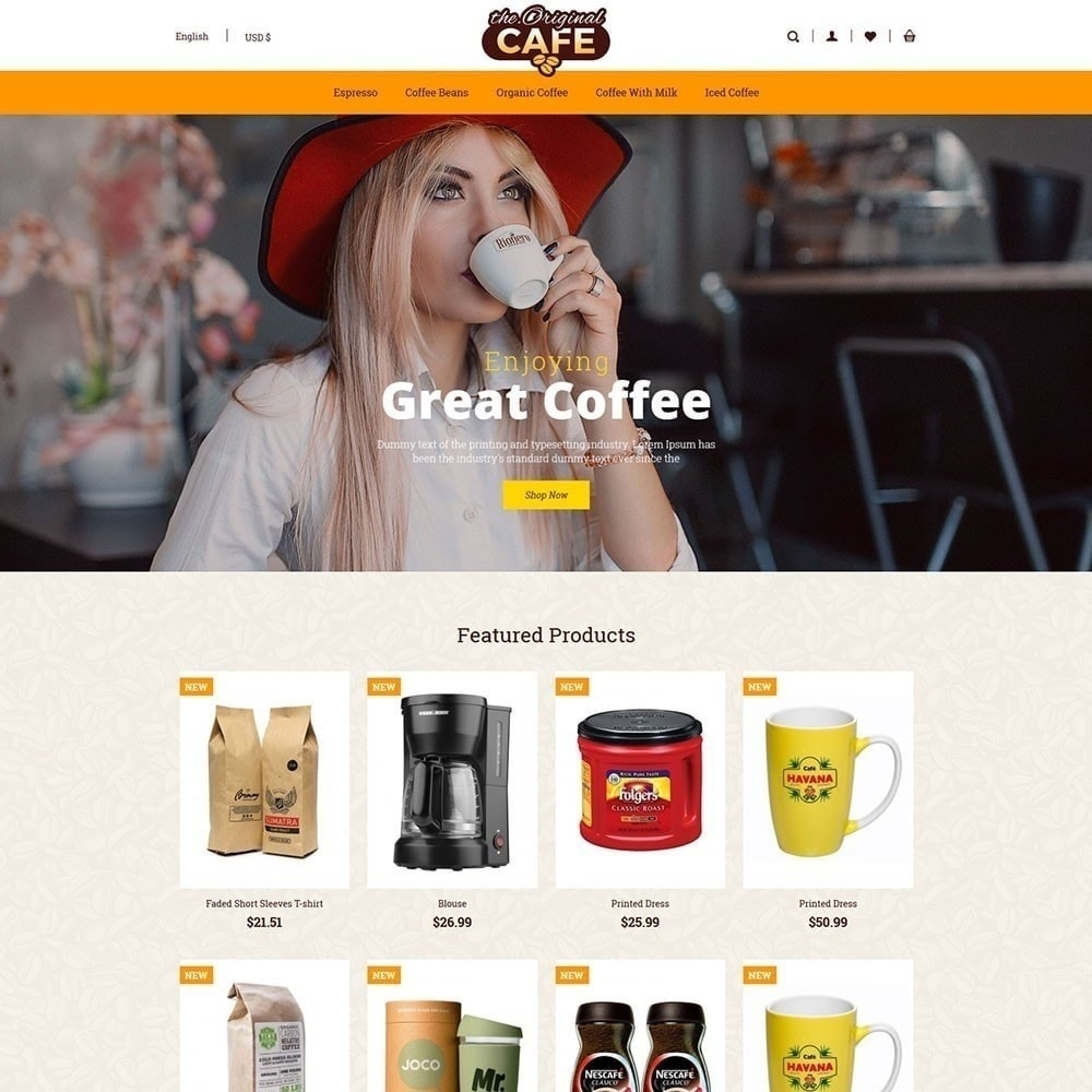 theme - Food & Restaurant - Food and Restaurant Cafe Store - 2
