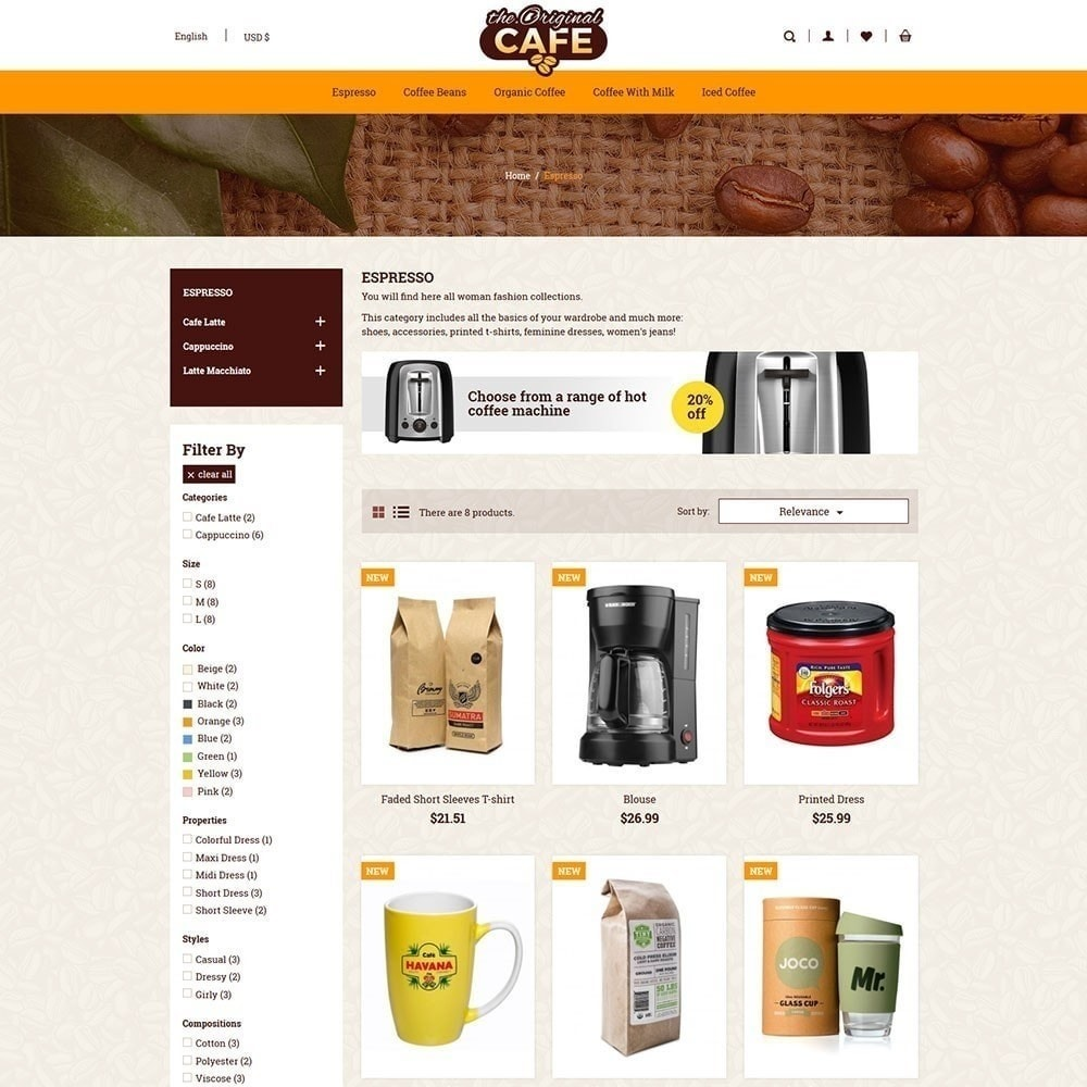 theme - Lebensmittel & Restaurants - Lebensmittel und Restaurant Cafe Store - 3