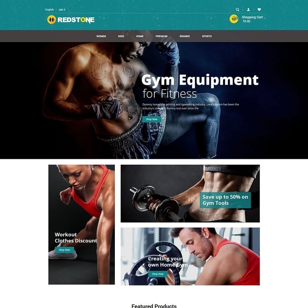 theme - Drink & Tobacco - Gym Multipupose Store Template - 2
