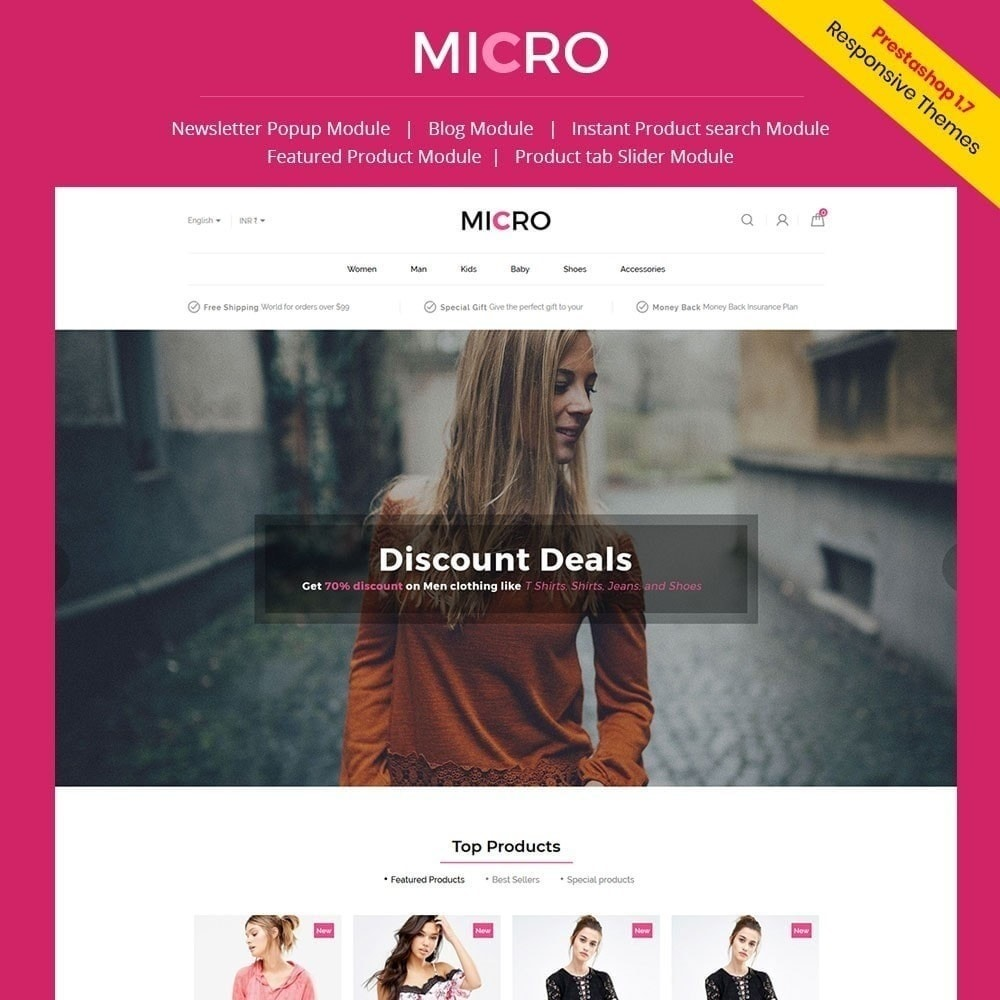 theme - Fashion & Shoes - Micro Fashion Store - 1