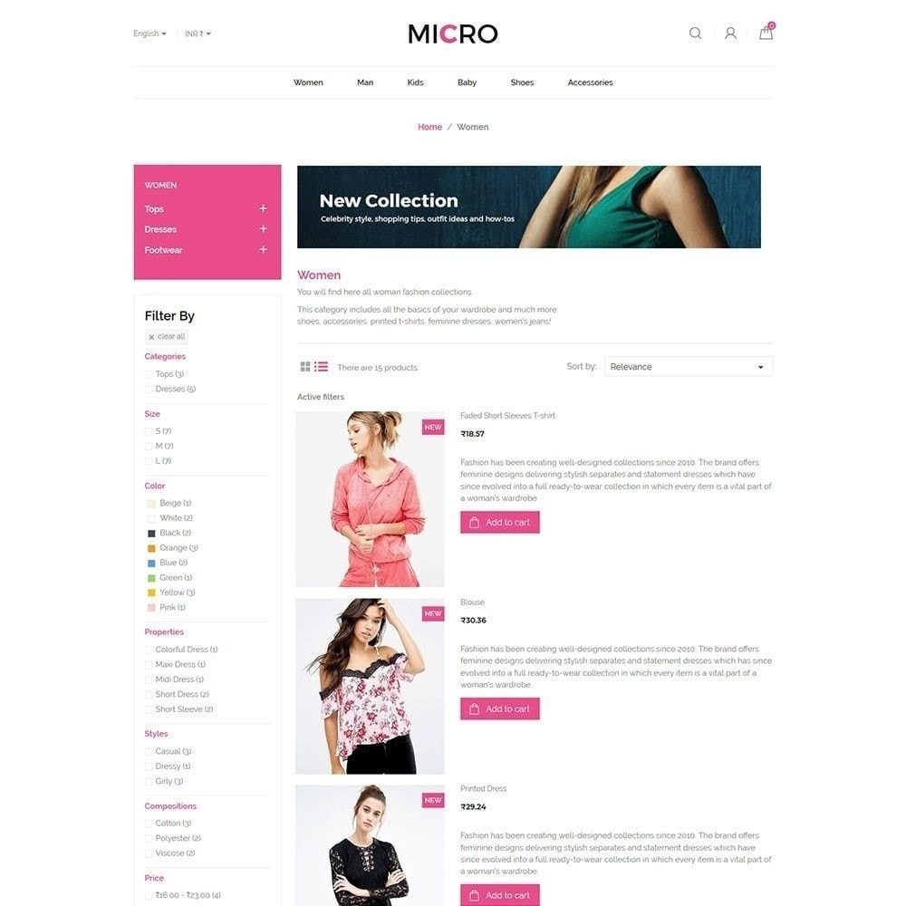 theme - Fashion & Shoes - Micro Fashion Store - 4