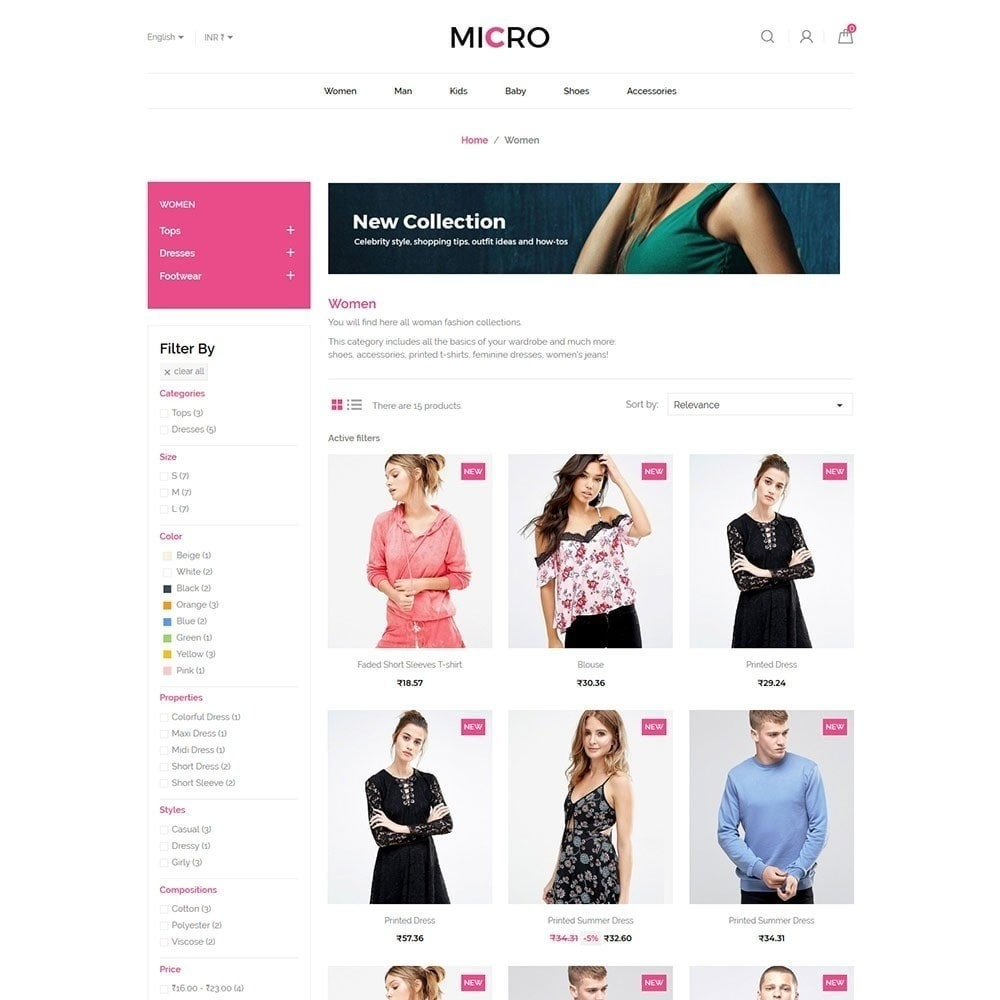theme - Mode & Chaussures - Micro magasin de mode - 4