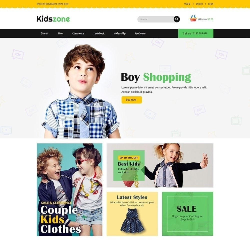 theme - Kids & Toys - Kidszone - Kids Store - 2
