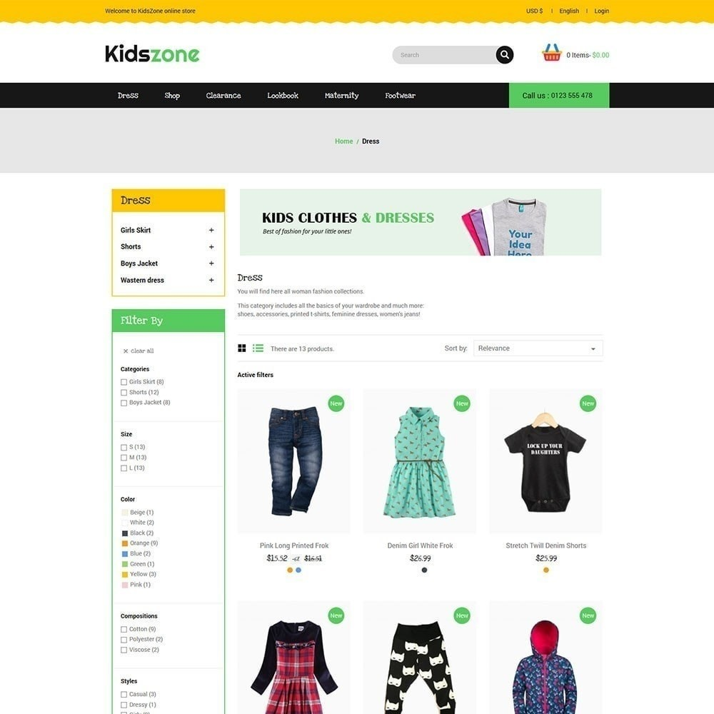 theme - Crianças & Brinquedos - Kidszone - Loja Infantil - 2