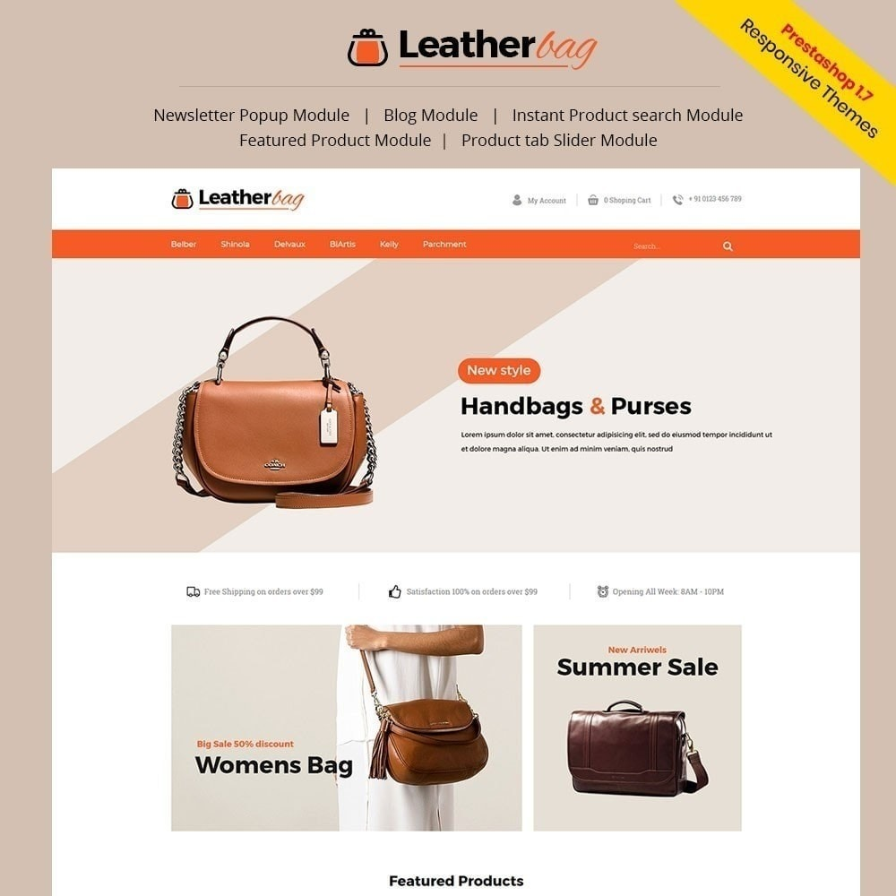 theme - Fashion & Shoes - Leather Bag Store - 1