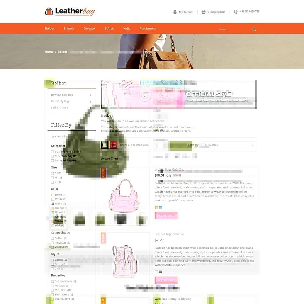 theme - Fashion & Shoes - Leather Bag Store - 4