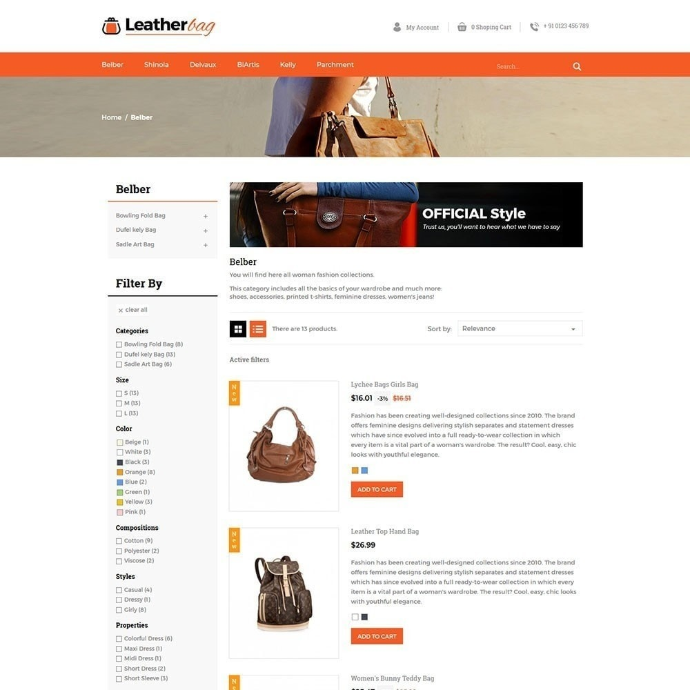 theme - Fashion & Shoes - Leather Bag Store - 5