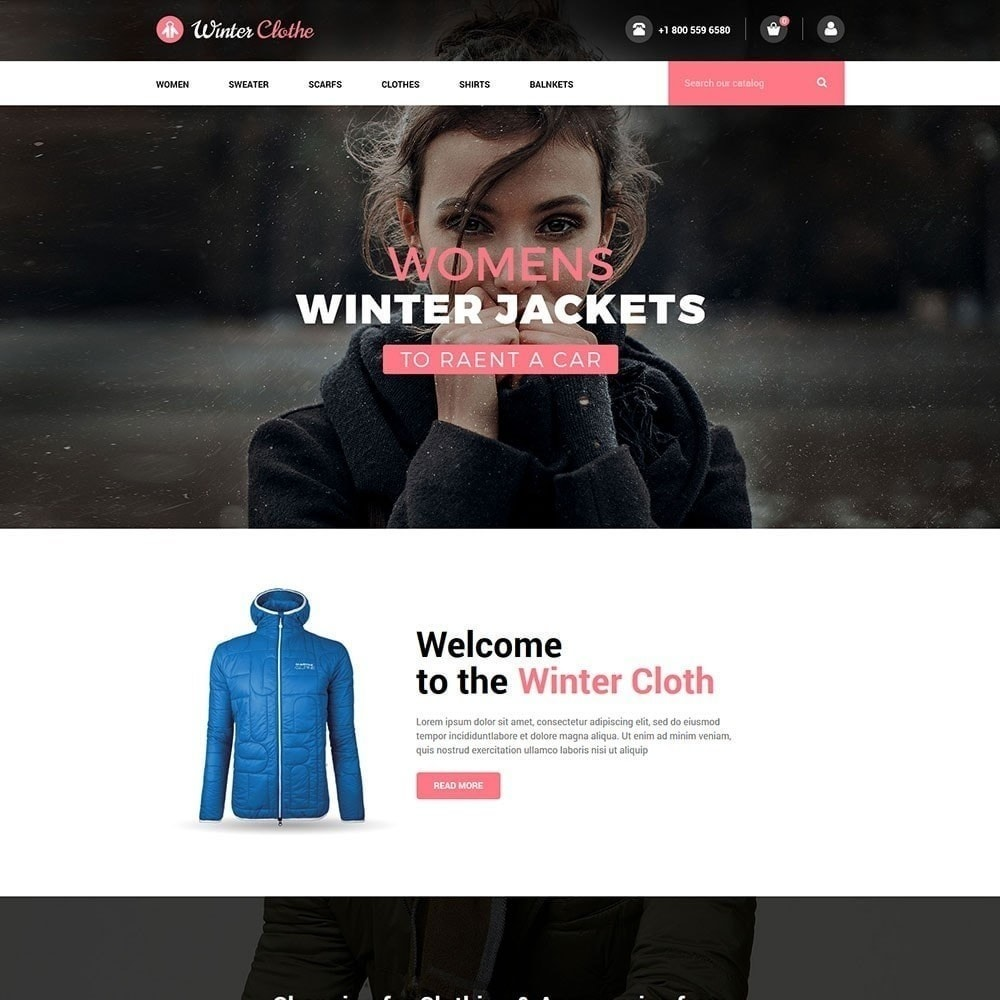 theme - Fashion & Shoes - Winter Cloth Store - 1
