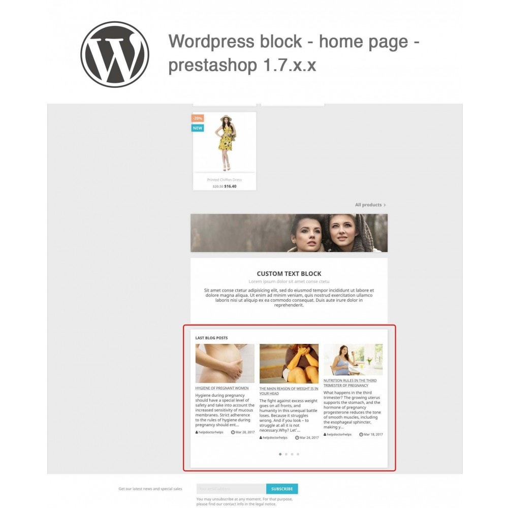 module - Blog, Forum & Actualités - Block Last Wordpress Blog Posts - 2