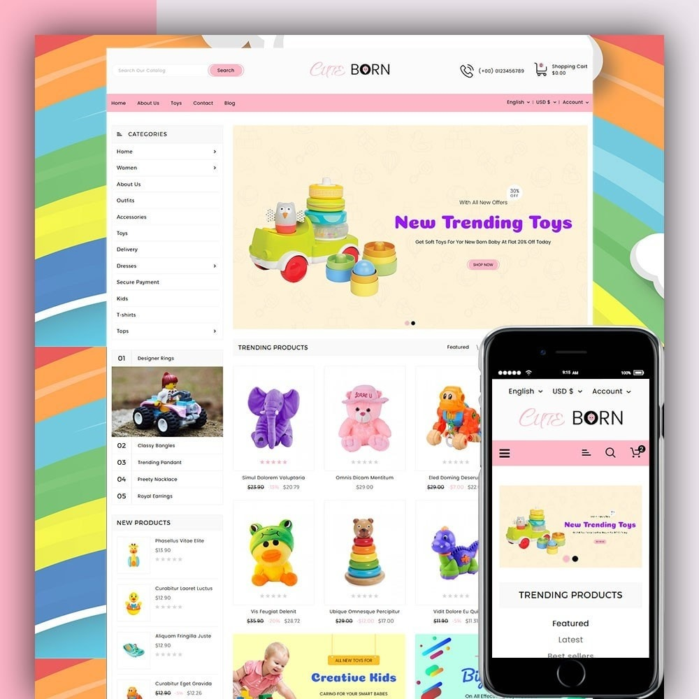 theme - Kids & Toys - Cute Born Toy Store - 1