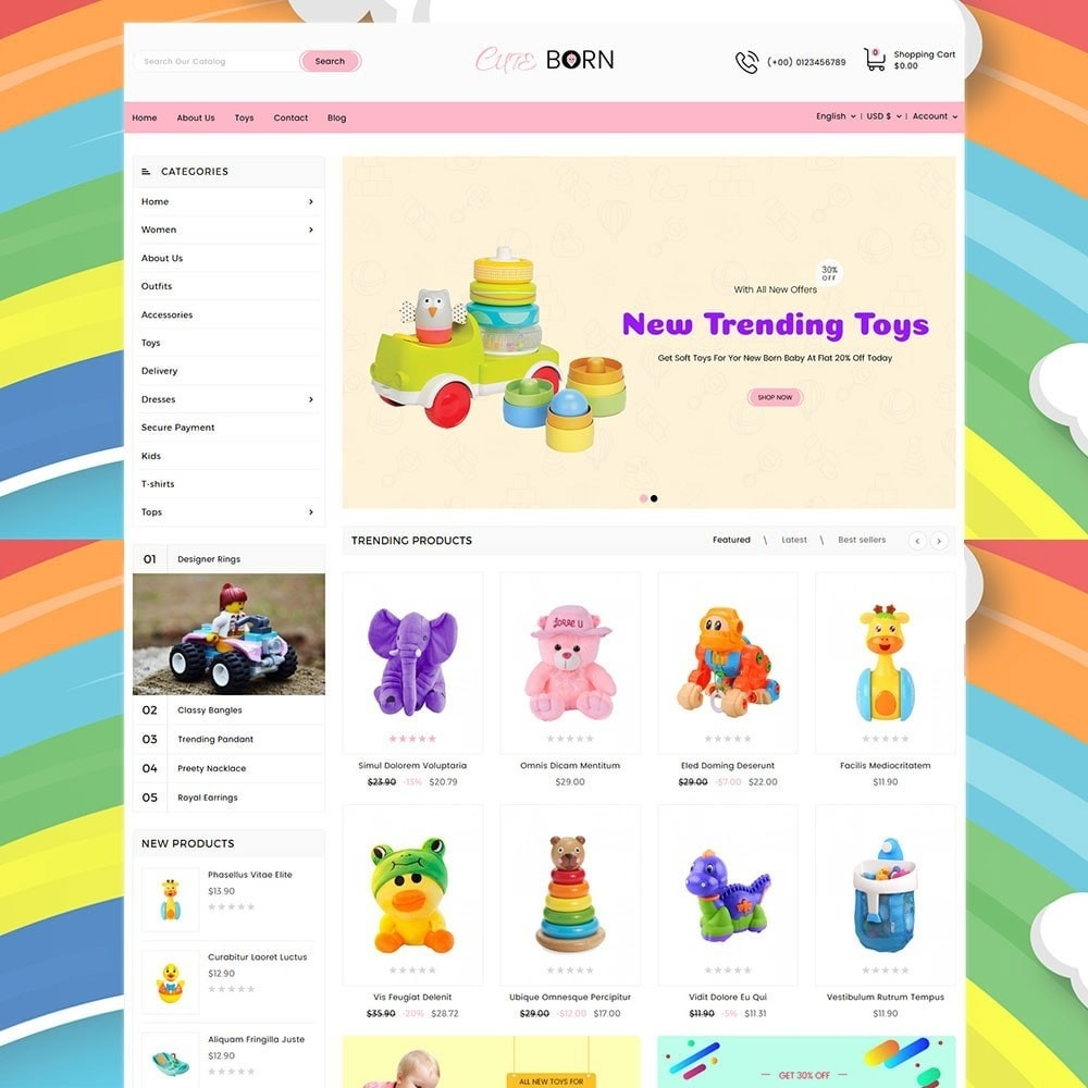 theme - Kids & Toys - Cute Born Toy Store - 2