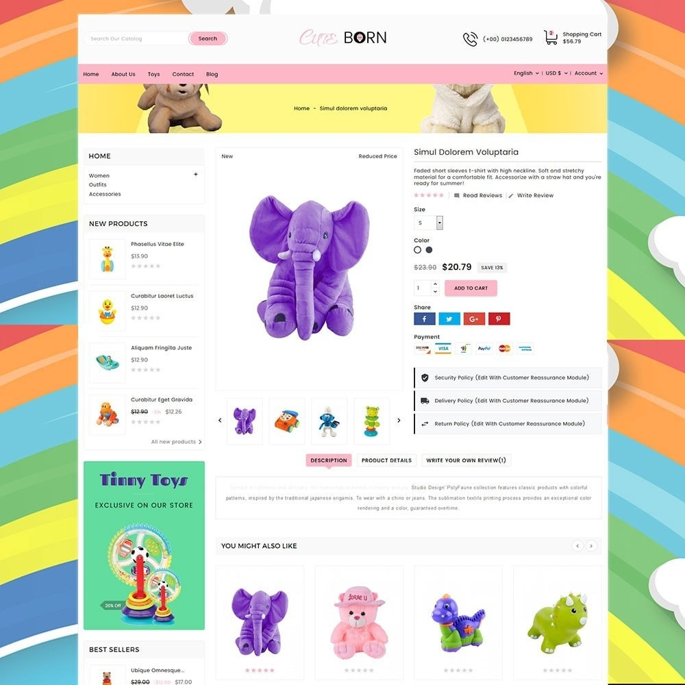 theme - Kids & Toys - Cute Born Toy Store - 6