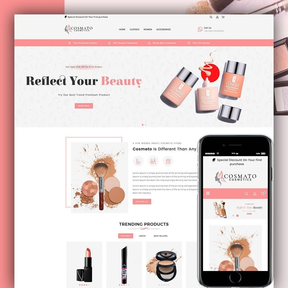theme - Santé & Beauté - Cosmato Cosmetics Store - 1