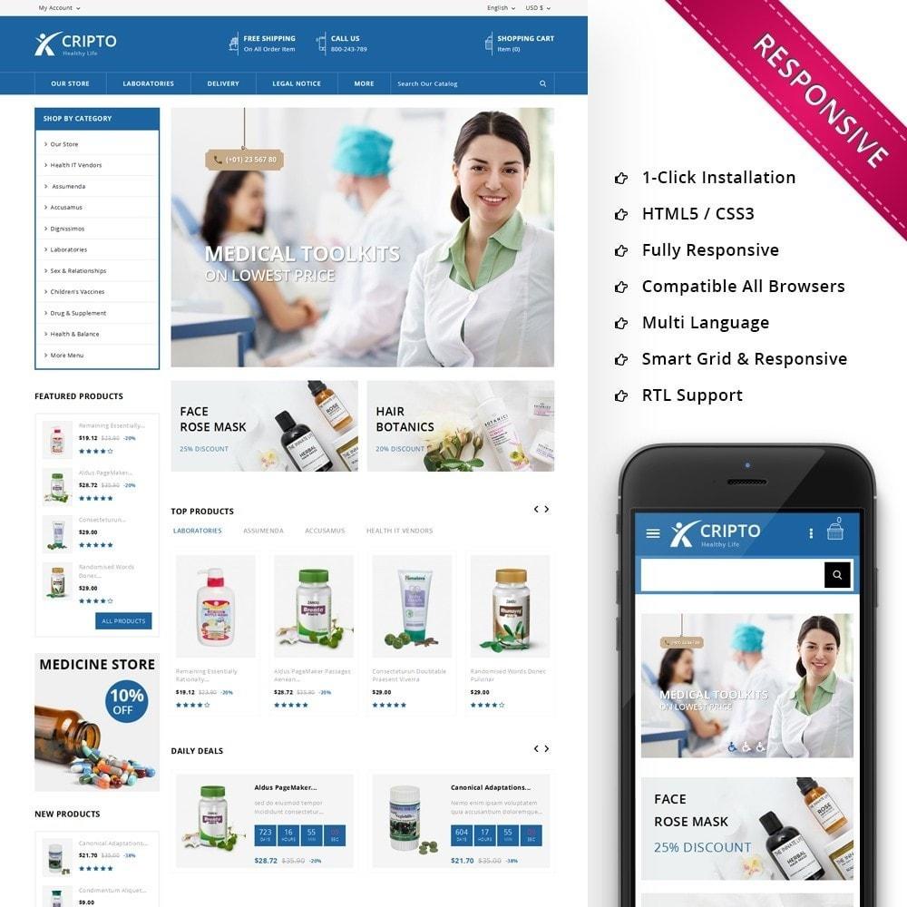 theme - Santé & Beauté - Cripto - Mega Medicine Store - 1