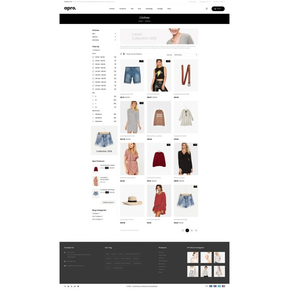 theme - Fashion & Shoes - Apro - Fashion Store - 3