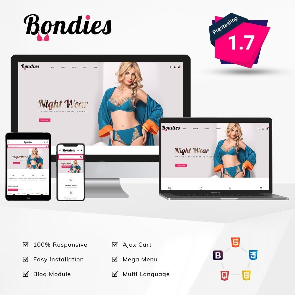 theme - Lingerie & Adult - Bondies Lingerie Store - 1