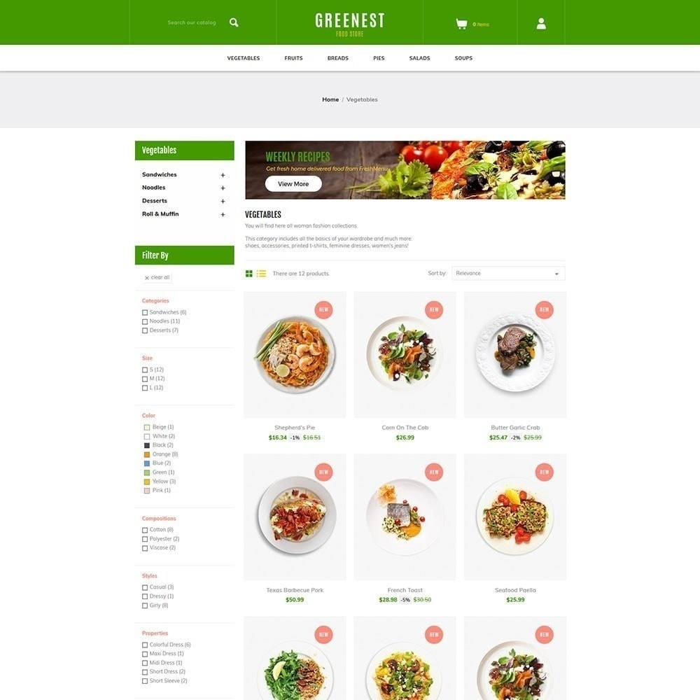 theme - Alimentos & Restaurantes - Mais ecológico - Food Store - 3