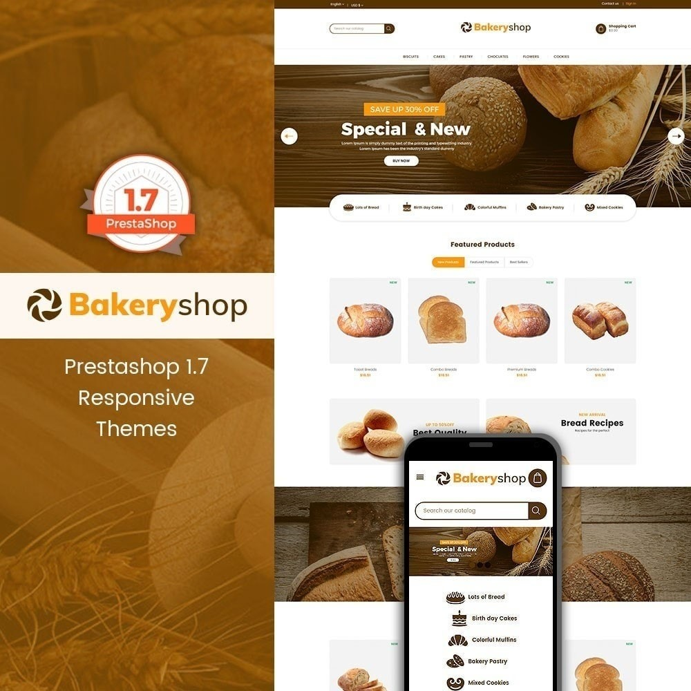 theme - Food & Restaurant - Bakery Food Store - 1