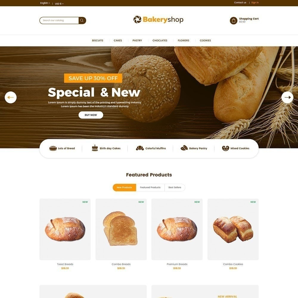 theme - Food & Restaurant - Bakery Food Store - 2