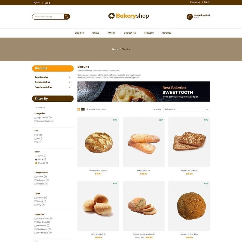 theme - Lebensmittel & Restaurants - Bäckerei-Lebensmittelgeschäft - 4