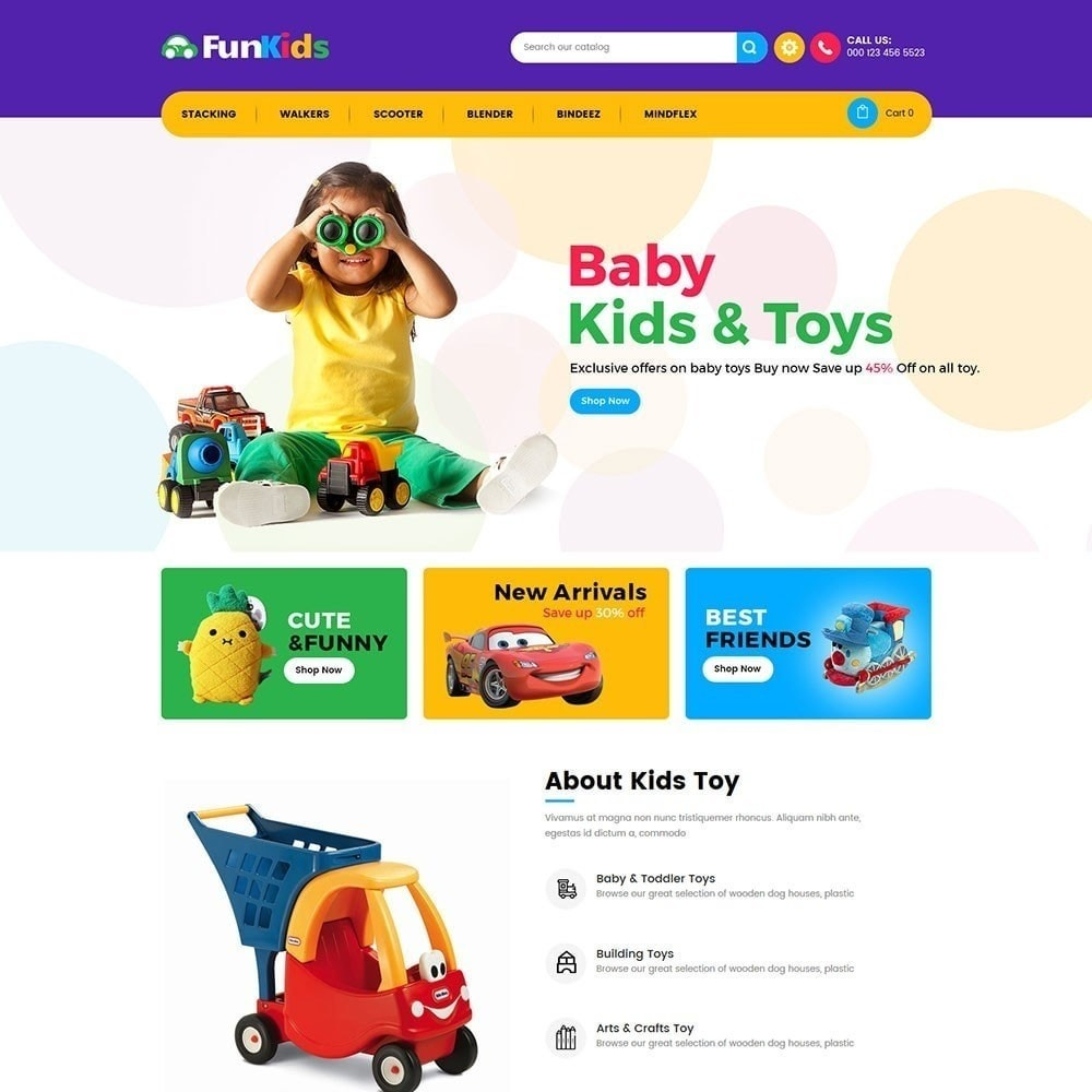 theme - Kids & Toys - Fun Kids -  Toy Store - 2
