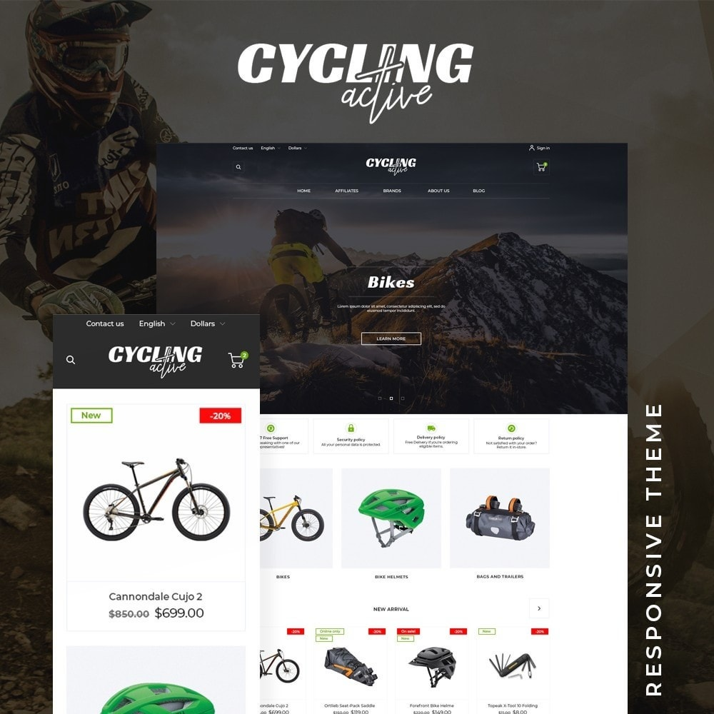 theme - Sports, Activities & Travel - Cycling Active - 1