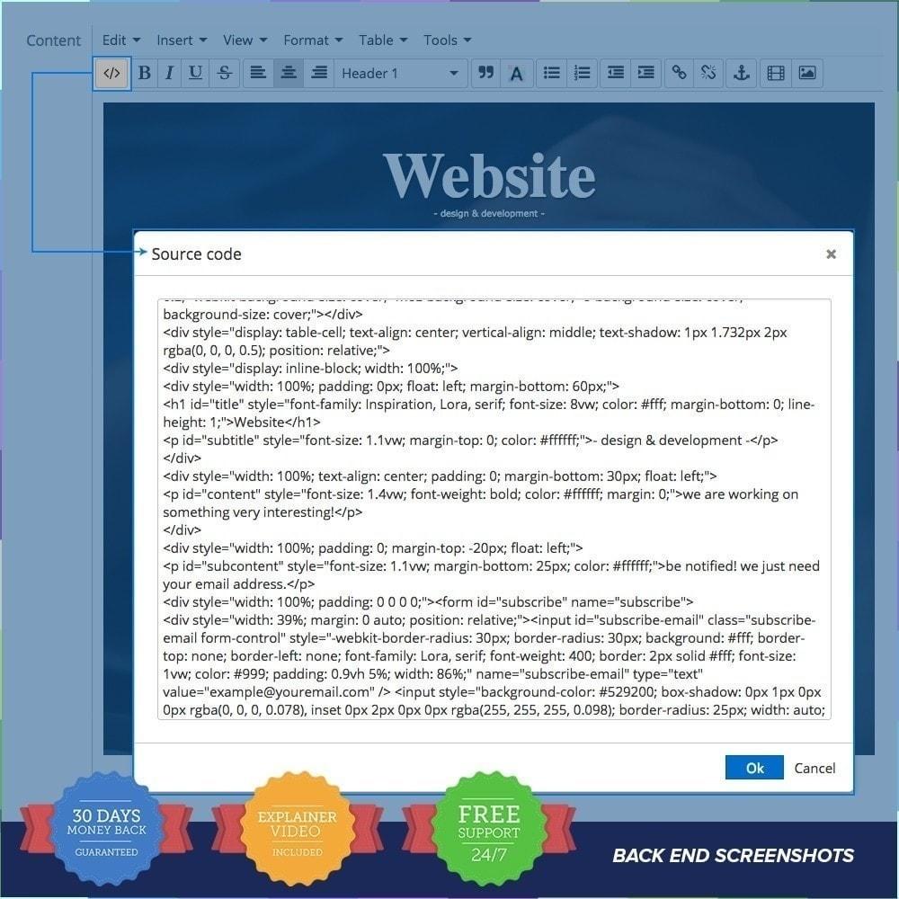 module - Personalización de la página - Página de mantenimiento personalizado - 7