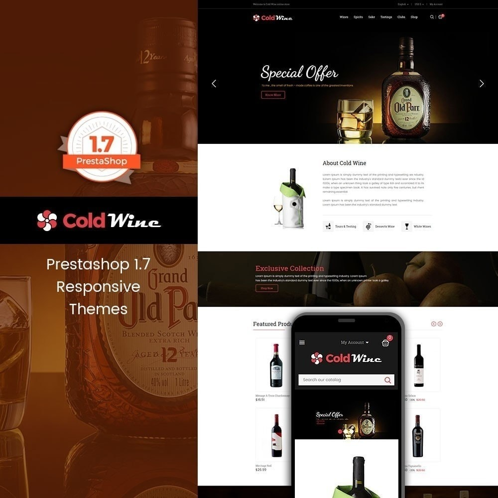 theme - Drink & Tobacco - Recwine - Wine Store - 1