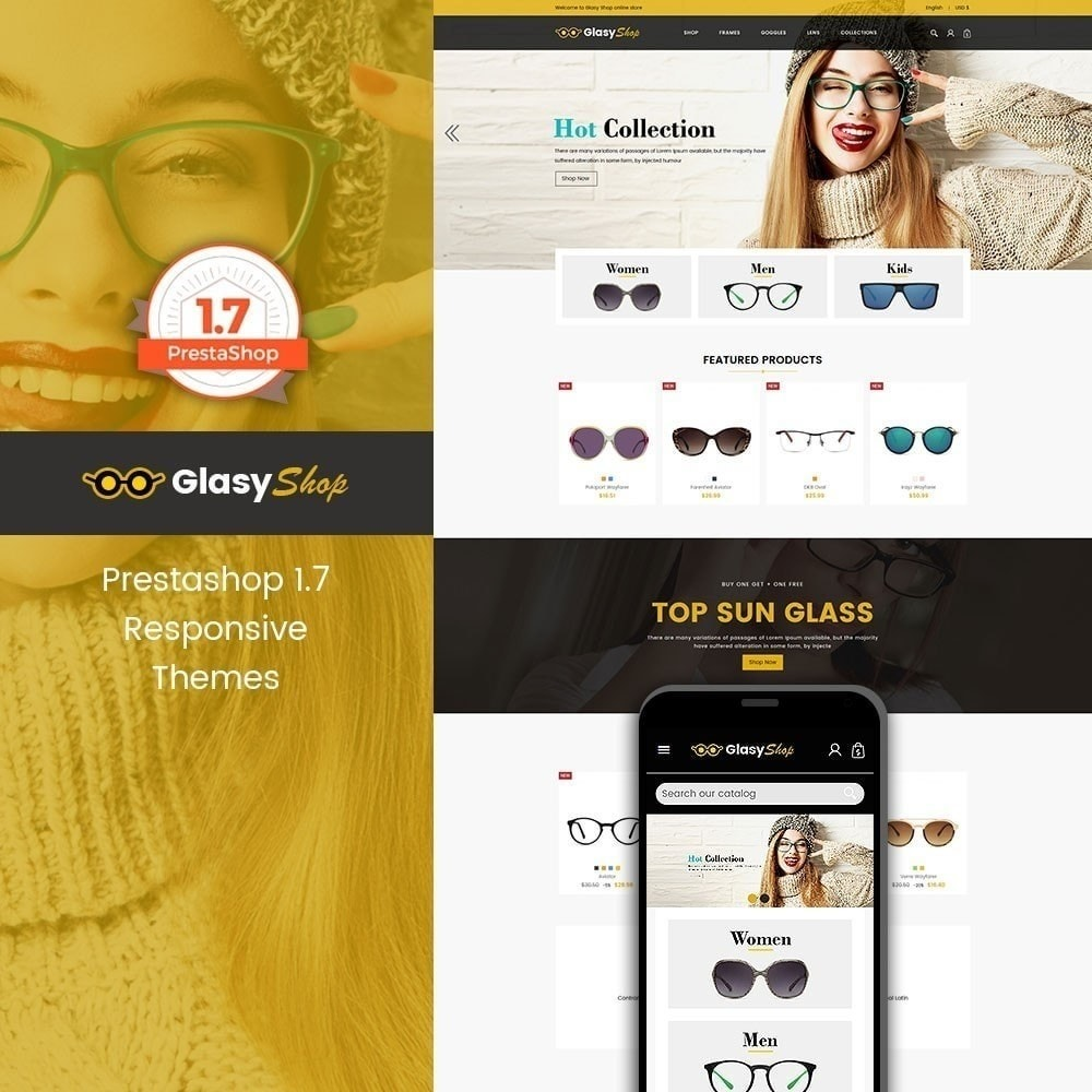 theme - Fashion & Shoes - Sun glass Fashion Store - 1