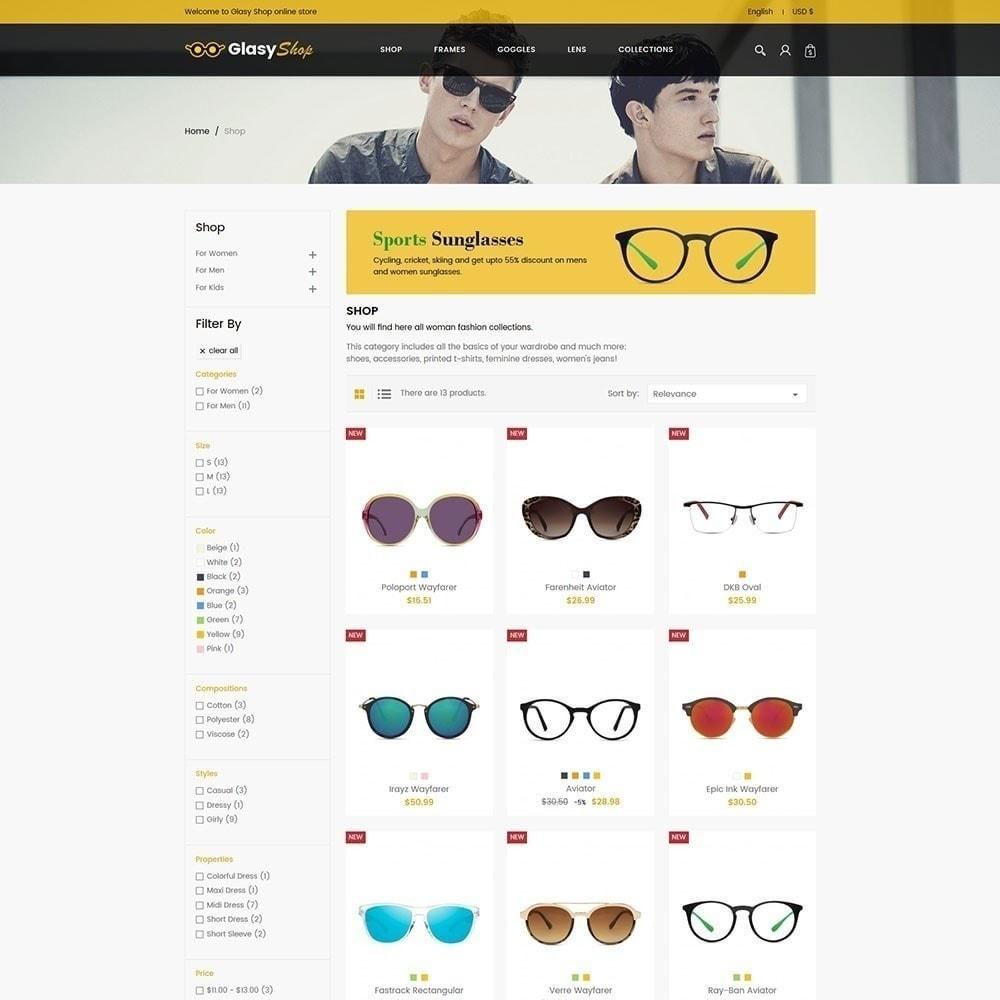 theme - Moda y Calzado - Tienda de moda de cristal de sol - 2