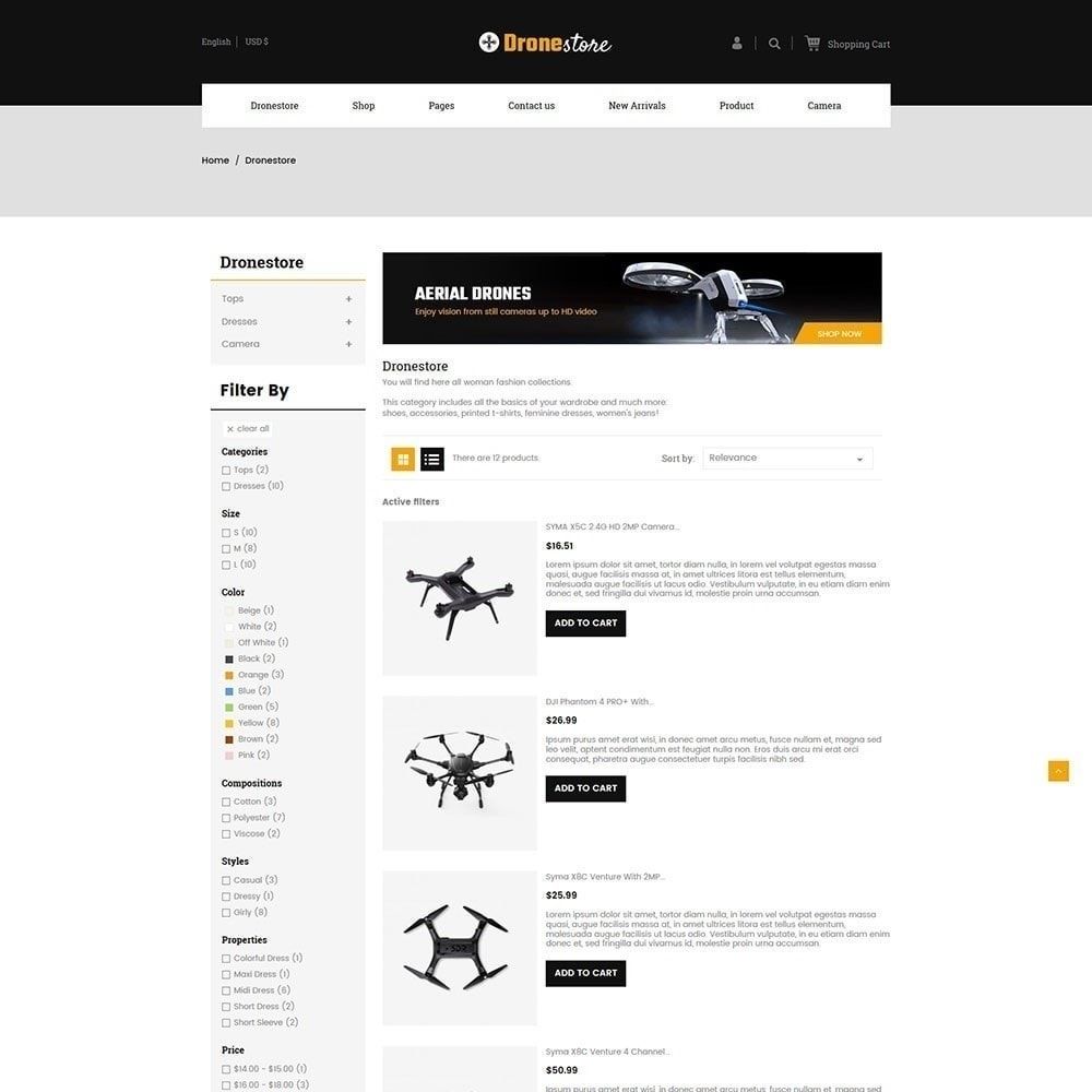 theme - Electronics & Computers - Drone - Digital  Store - 5