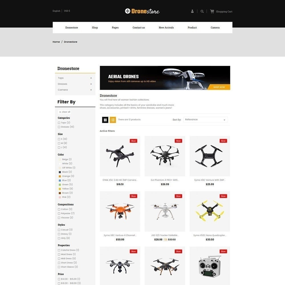 theme - Elektronica & High Tech - Drone - Digital Store - 2