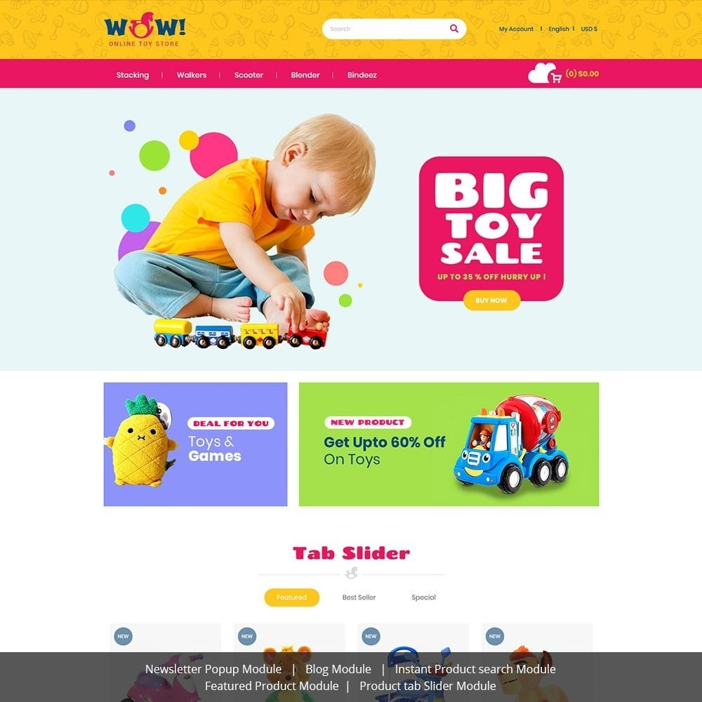 theme - Kids & Toys - Wow  Online Kids Store - 1