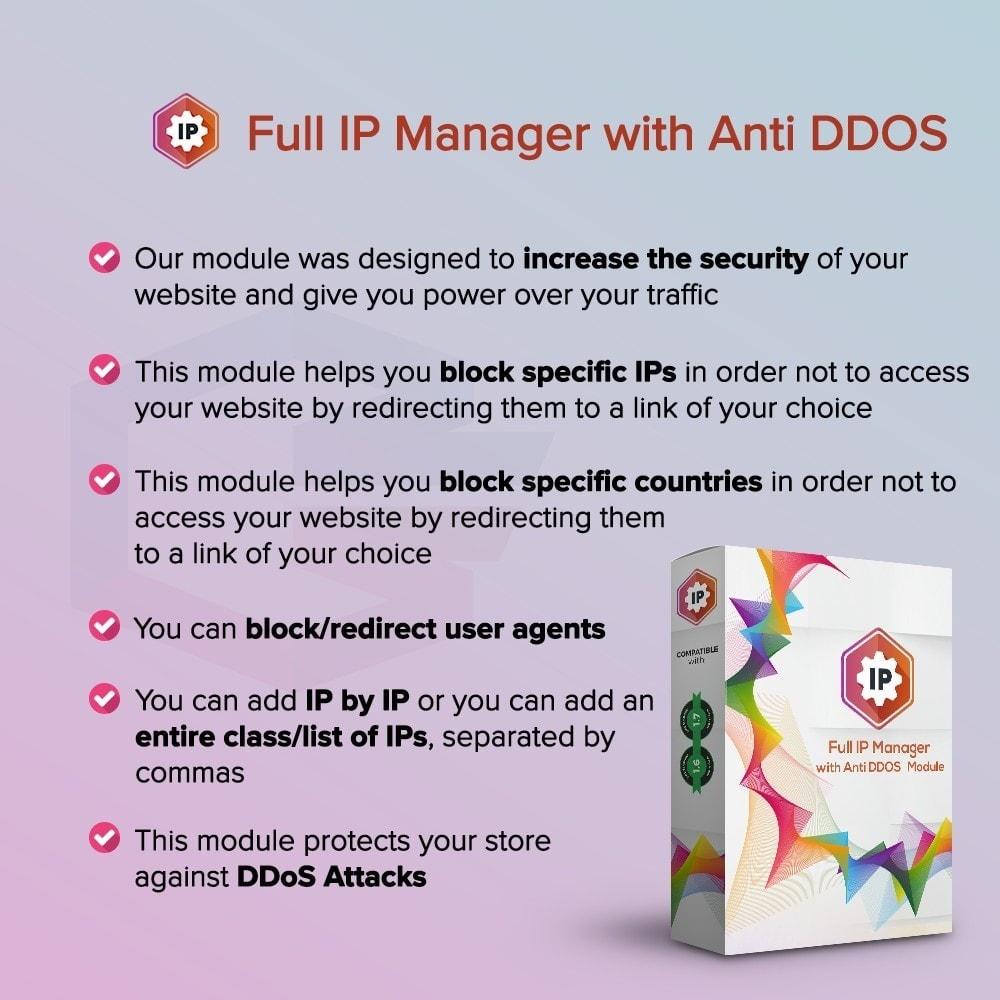 module - Seguridad y Accesos - Full IP Manager con Anti DDOS - 1